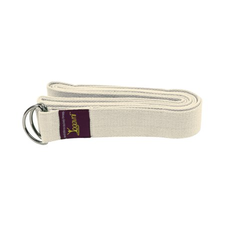 10 feet Cotton Yoga Strap/ Belt with D-Ring Buckle by Yogavni(TM)-Natural-Off White - image 1 de 1
