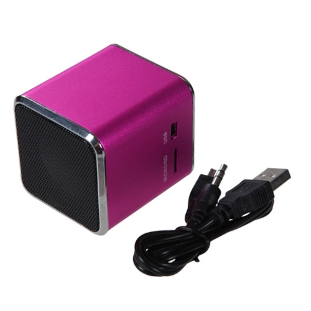 Insten Mini Hot Pink Speakers For PC puter Laptop iPod