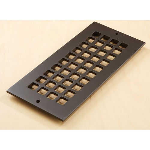"""Reggio Registers G612-AH Grid Series 10"""" x 4"""" Grille with Mounting Holes"""