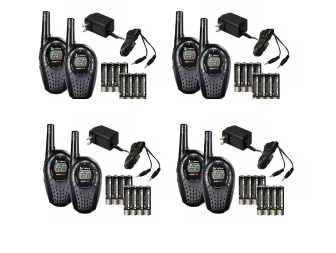 Click here to buy 8) COBRA CXT225 MicroTalk 20 Mile GMRS FRS 22 Channel 2-Way Radio Walkie Talkies by Cobra.