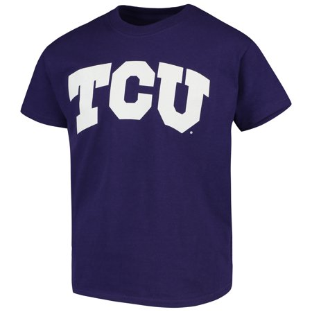 Tcu Horned Frogs Baseball - TCU Horned Frogs Russell Athletic Youth Oversized Graphic Crew Neck T-Shirt - Purple