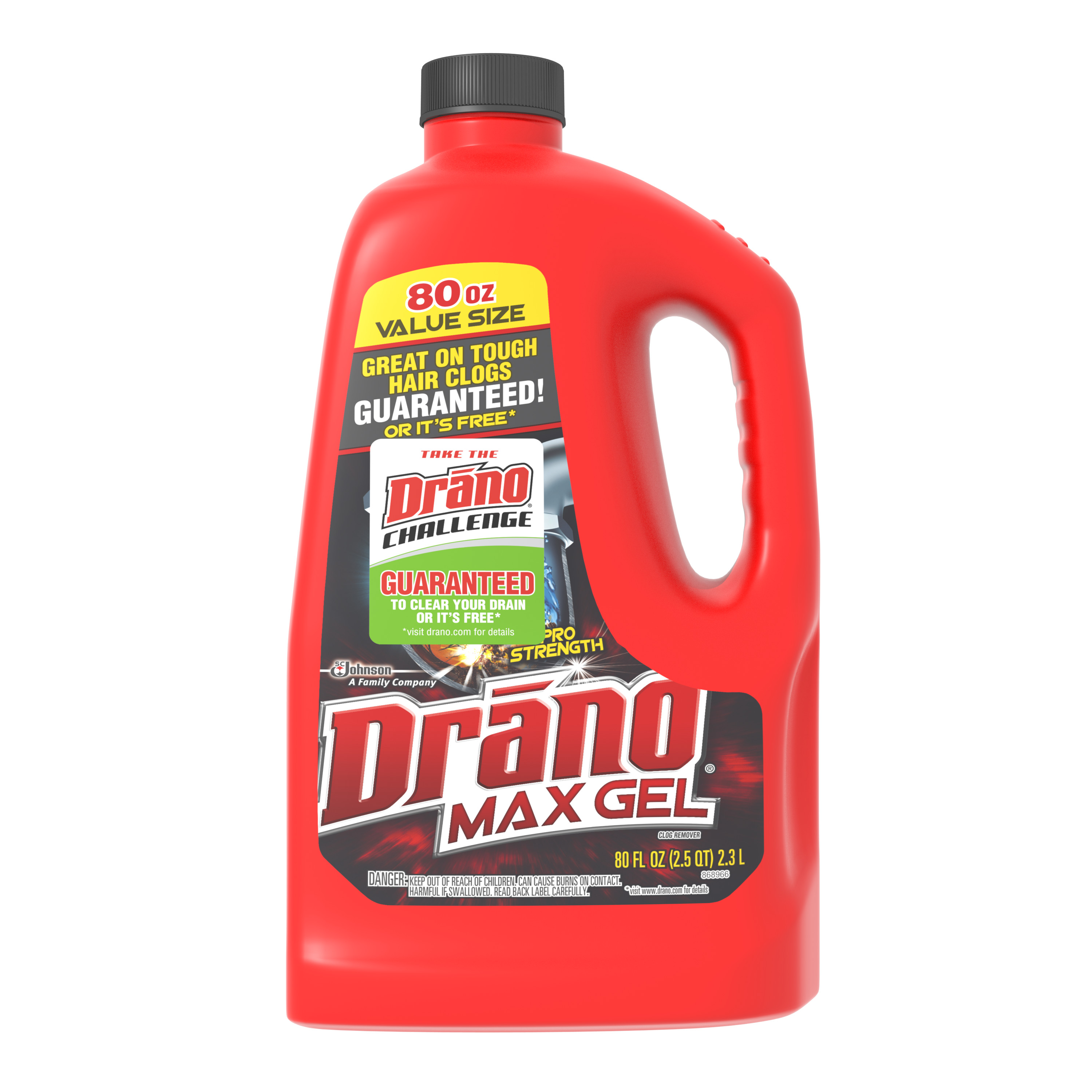 Drano Max Gel Clog Remover 80 Ounces.