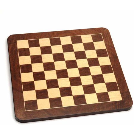 - Deluxe Chess Board, Walnut Root Wood with Rounded Corners, 19