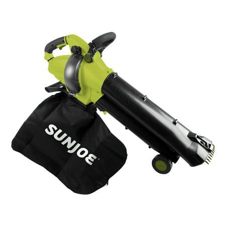 Sun Joe SBJ702E 13-Amp, 250-MPH 3-in-1 Outdoor Electric Vacuum/Mulcher/Blower, Variable Speed, Telescoping Frame, Leaf Grabbing Teeth