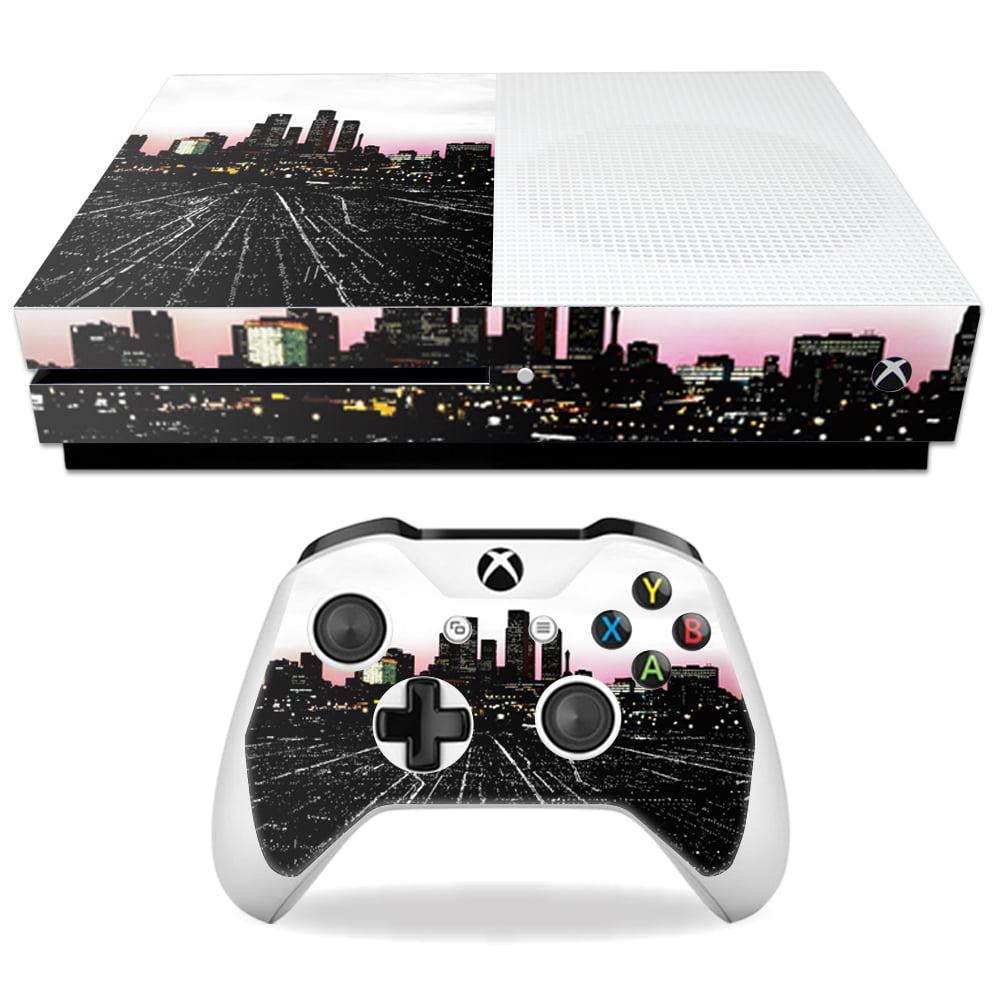 Skin Decal Wrap for Microsoft Xbox One S Urban Night ... Xbox One Skins Walmart