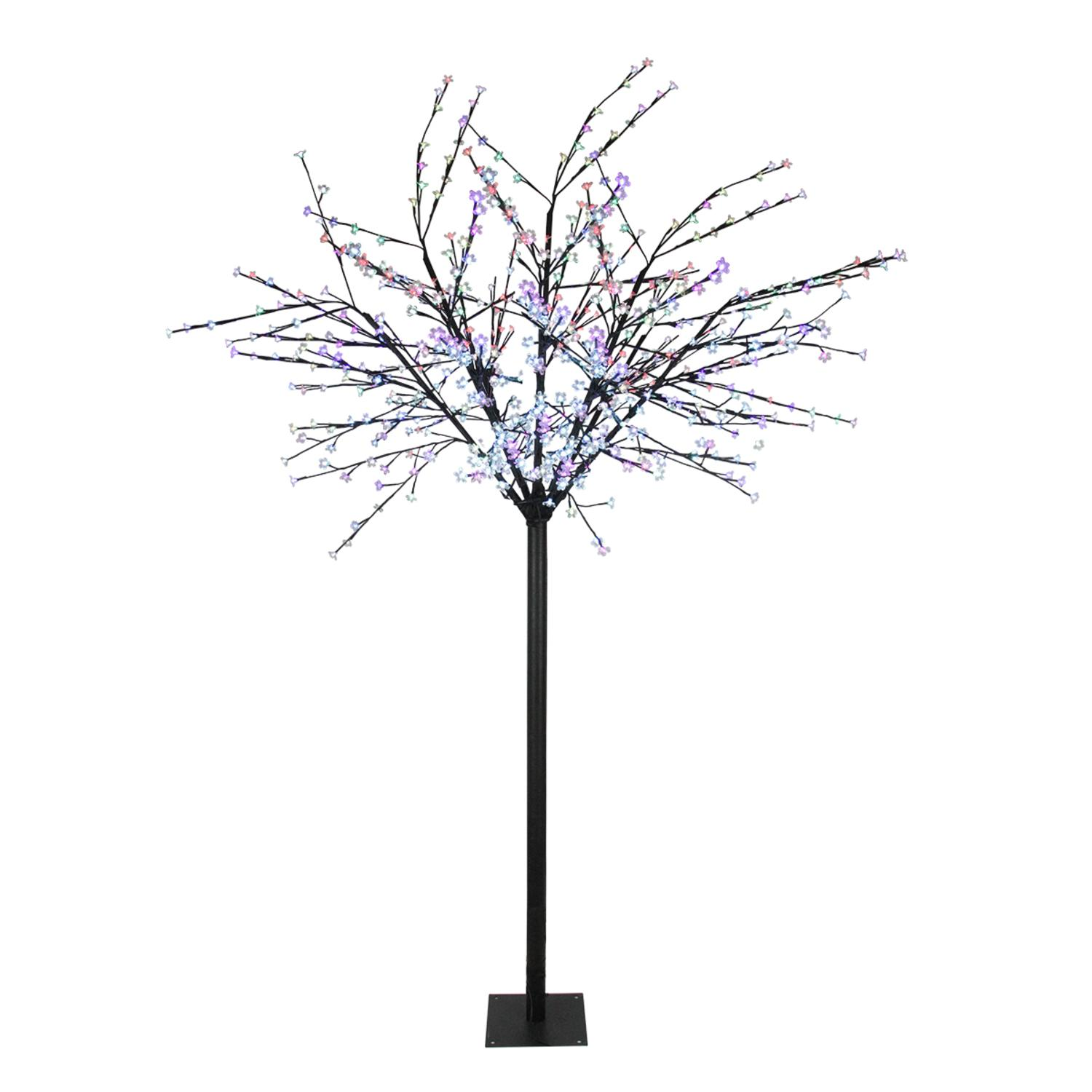 8' LED Lighted Commercial Cherry Blossom Flower Tree - Mu...