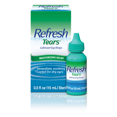 Artificial Tears Ophthalmic Solution - Refresh Tears Lubricant Eye Drops, 0.5 Oz