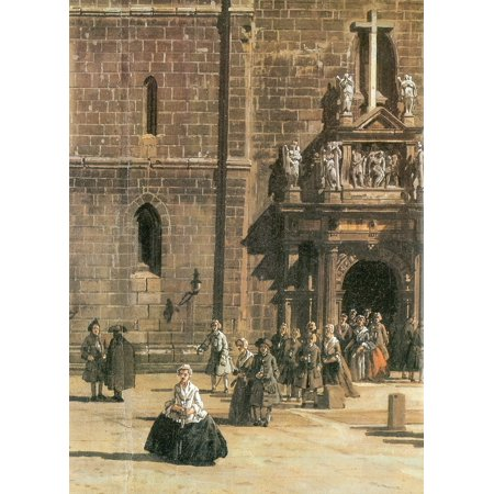 Art Deco Figural - Framed Art for Your Wall Canaletto (II) - The portal of the Cross church with figural jewelry by Christoph Walther IV and Melchior Jobst [1] 10 x 13 Frame