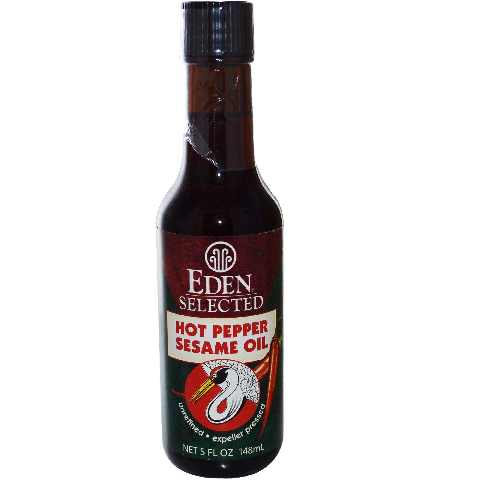 Eden Foods, Selected, Hot Pepper Sesame Oil, 5 fl oz (pac...