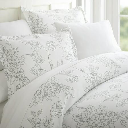 Simply Soft 3 Piece Vine Pattern Duvet Cover Set