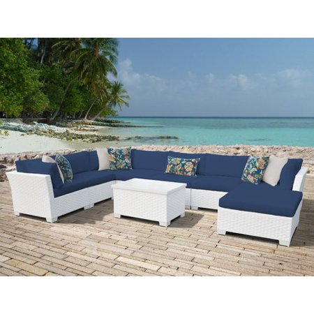 - TK Classics Monaco 9 Piece Sectional Seating Group with Cushions