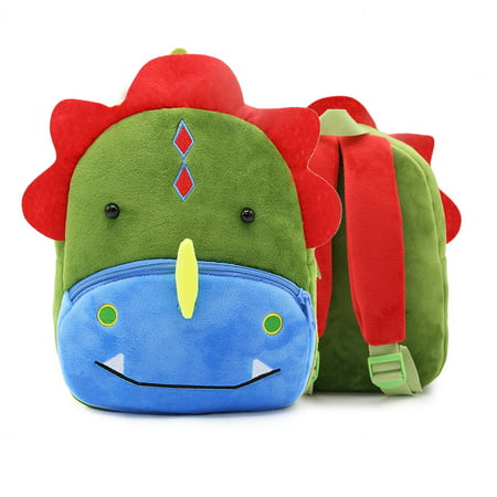 3D Children Kids Toddler Preschool Kindergarten Backpack for Boys Girls, Super Cute Cartoon Travel Lunch Bags, Cute Dinosaur Design for 2-4 Years (Dyno Bag)
