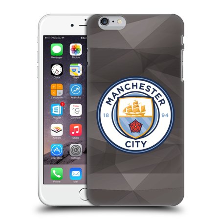 OFFICIAL MANCHESTER CITY MAN CITY FC BADGE GEOMETRIC HARD BACK CASE FOR APPLE IPHONE PHONES