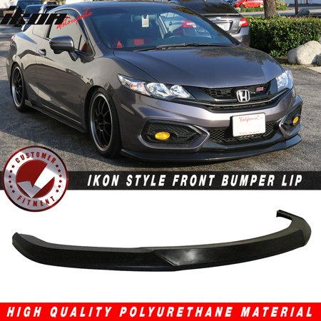 - Fits 14-15 Civic 2DR Coupe IKON Style Front Bumper Lip Splitter - PU Urethane