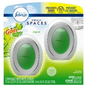 Febreze Small Spaces Air Freshener, Original Gain Scent, 2 Ct