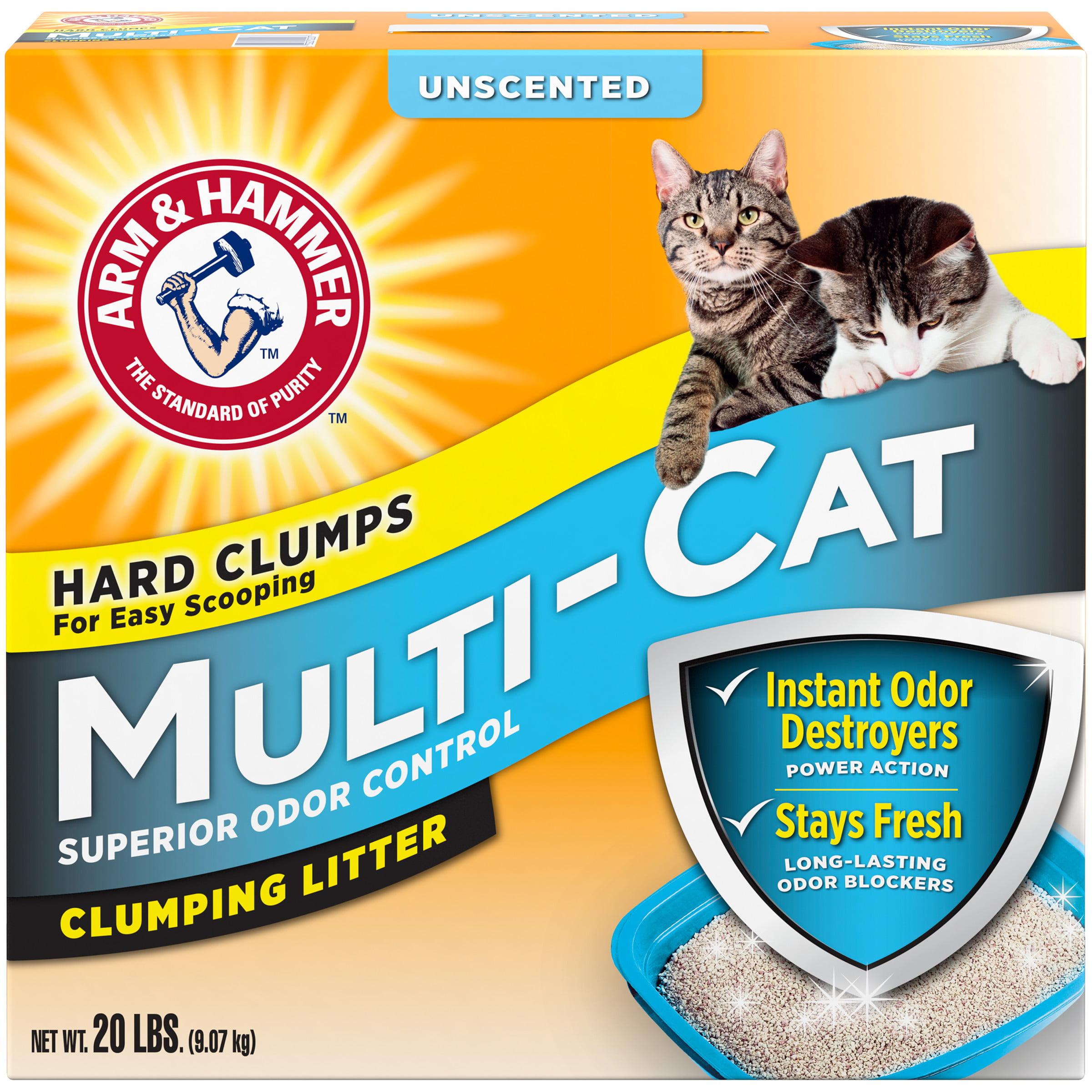 Arm & Hammer Multi-Cat Unscented Clumping Cat Litter, 20 Lb.