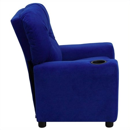 Bowery Hill Kids Recliner in Royal Blue with Cup Holder - image 3 de 5
