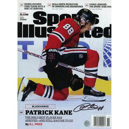 Patrick Kane Chicago Blackhawks Autographed March 14  2016 Sports Illustrated Magazine   Frameworth   No Size