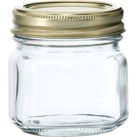 Anchor Hocking Half-Pint Glass Canning Jar Set, 12pk - Mini Mason Jars In Bulk