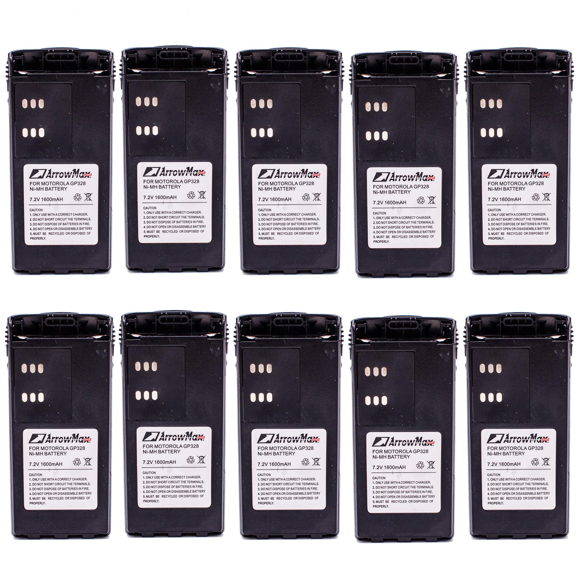 4 pcs HNN9008 HNN9009 Battery for Motorola GP140 GP328 GP338 HT750 HT1250 HT1550