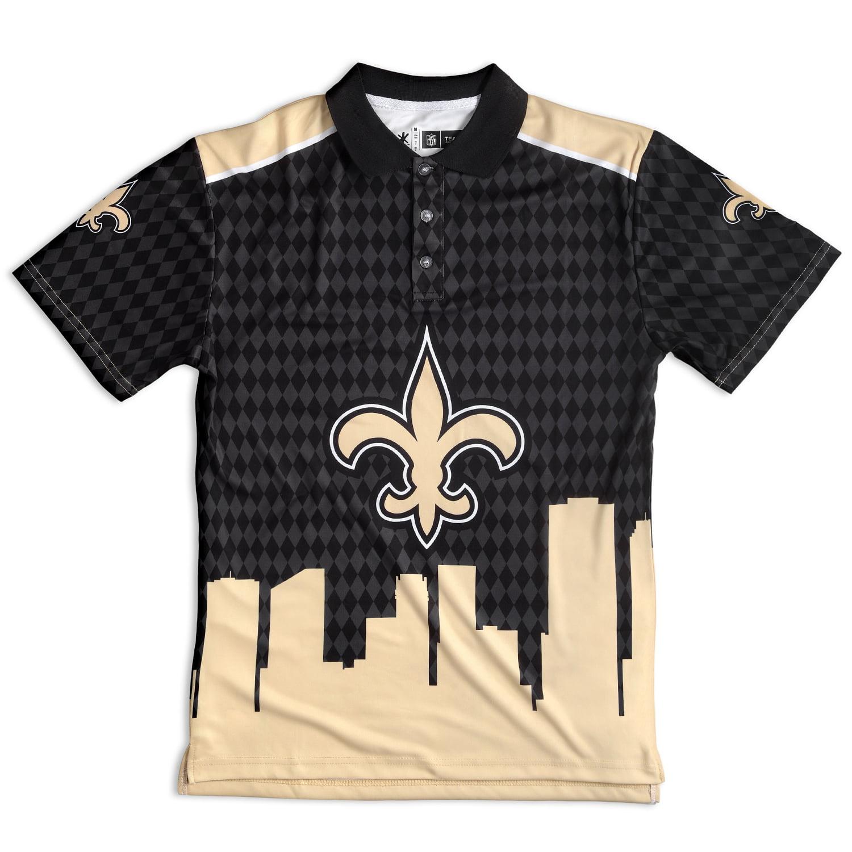 "New Orleans Saints NFL ""Thematic"" Skyline Men's Polo Shirt"
