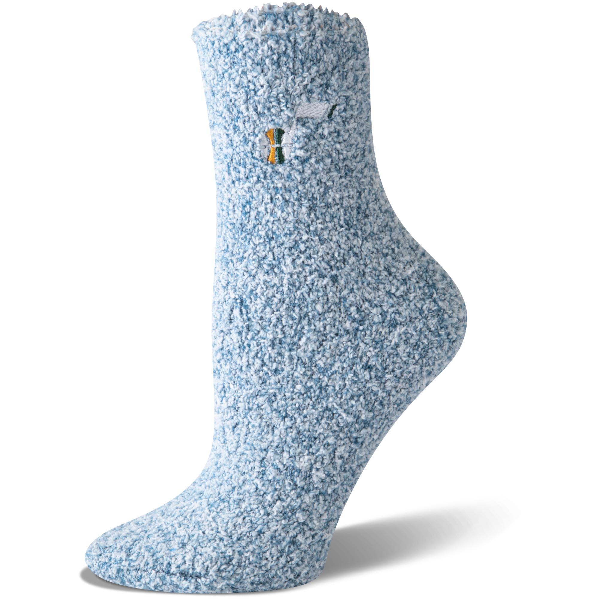 Utah Jazz Women's Fuzzy Block Tri-Blend Socks - Navy - M
