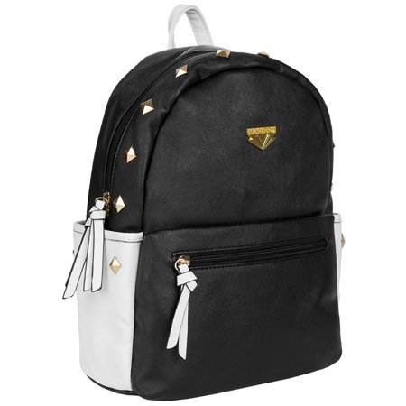 Mini Rivets Faux Leather Travel Fashion Backpack fits up to 10, 10.1, 11, 11.9 Tablets / Netbooks /