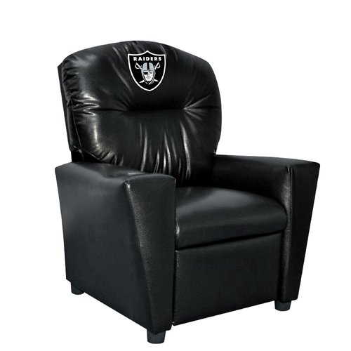 Imperial International NFL Kids Faux Leather Recliner with Cup Holder
