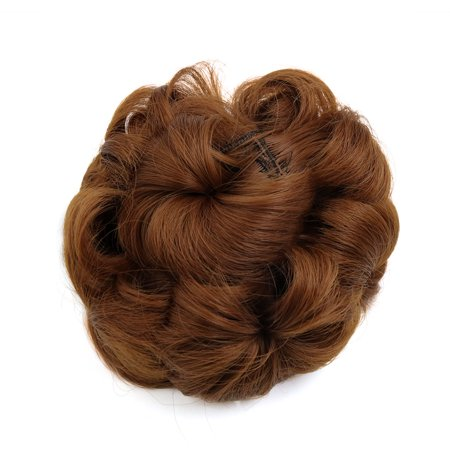 Buy Ponytail Wigs (Synthetic Hair Chignon Curly Donut Bun Updo Ponytail Hairpiece Wig for Women)