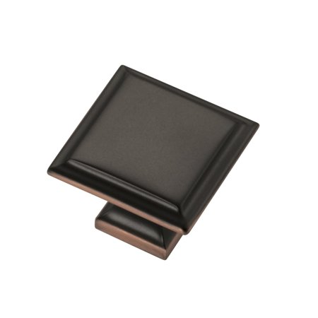 1.25 in. Square Knob in Oil-Rubbed Bronze Highlighted Finish