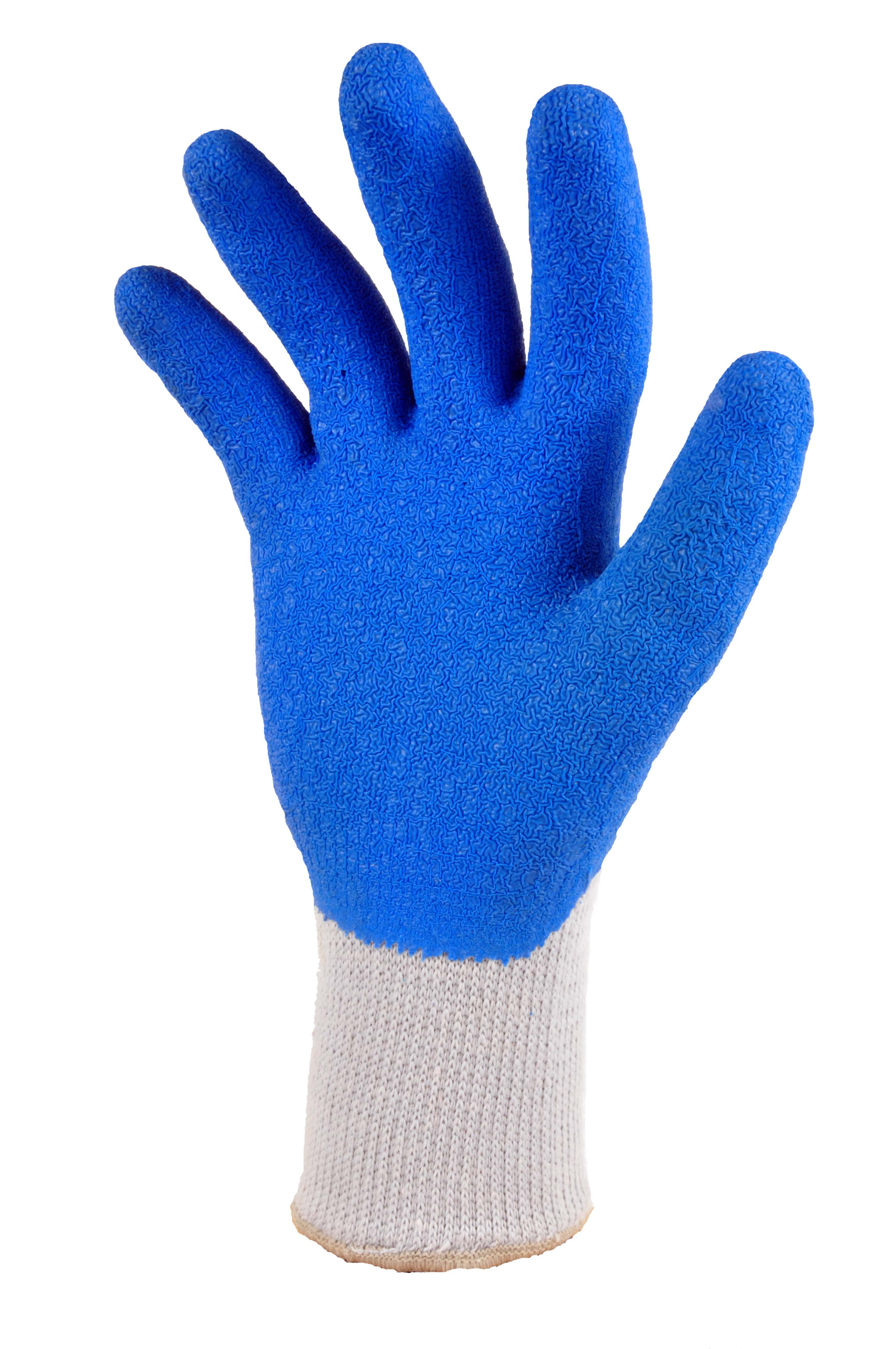 G & F 1630 Heavy Duty Rubber Latex Coated Work Gloves for Construction, Blue, Men\\'s... by G & F