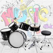 Ejoyous Drum Beginner Set, 5 pieces Junior Children Kid Drum Kit Stool Drumsticks Pedal Beginners Set