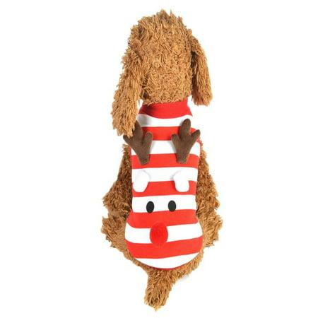 Christmas Pet Dog Puppy Vest Striped Style Warm Clothes Elk Dress Up Xmas Vest](Puppy Up)