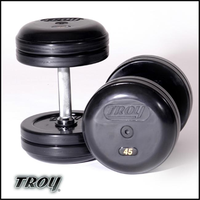 Troy Barbell RUFDC-040R Rubber Encased Pro-Style Dumbbell...