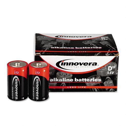INNOVERA                                           Alkaline Batteries, D, 12/pack
