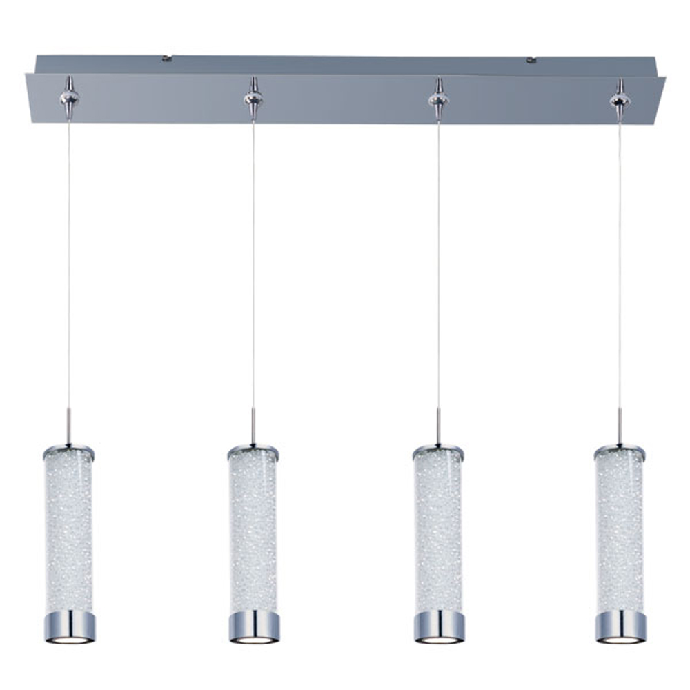 ET2 E94950-130PC Pendants , Indoor Lighting, Polished Chrome with Clear Iridescent Glass