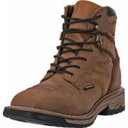 """Dan Post Work Boots Mens 6"""" Flame Lace Waterproof Saddle Tan DP66402"""