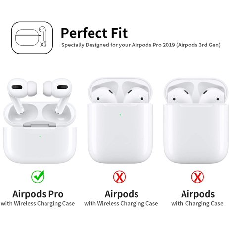 Airpods Pro Case Front Led Visible 360 Protective Silicone