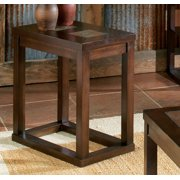 Steve Silver Winston Chairside End Table Rustic Medium
