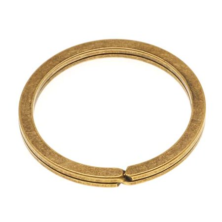 Nunn Design Antiqued 24kt Gold Plated Key Ring 1 1/4 Inch (1)