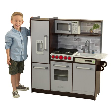 Ez Play Piano - KidKraft Uptown Elite Espresso Play Kitchen with EZ Kraft Assembly