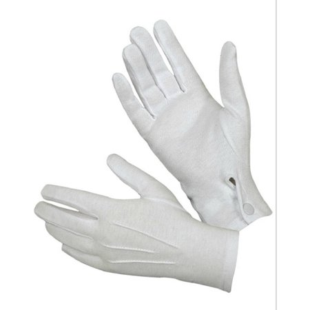 Hatch WG1000S Cotton Parade Glove with Snap Back, White - Black Light White Gloves