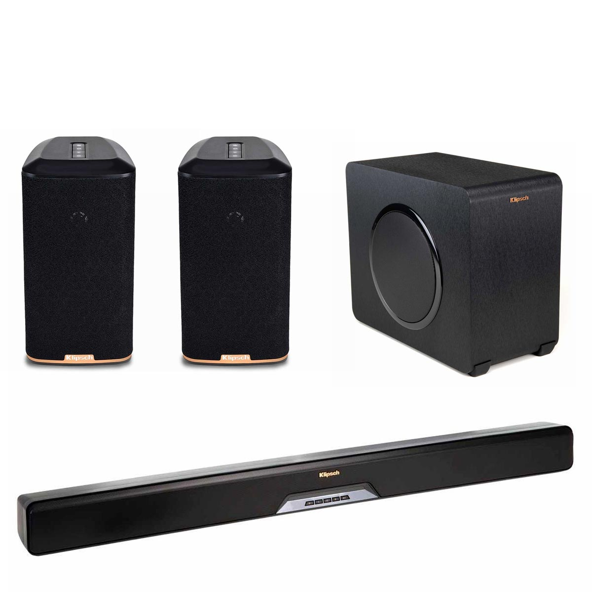 Klipsch RSB-11 Reference Sound Bar with Wireless Subwoofer with RW-1 Wireless Speakers