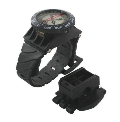 Scuba Diving Deluxe Wrist Compass with Hose Mount by Scuba-Choice