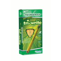 Ticonderoga My 1st Tri-Write Yellow Pencil 13/32 inch Primary Triangular With Eraser 36 Count