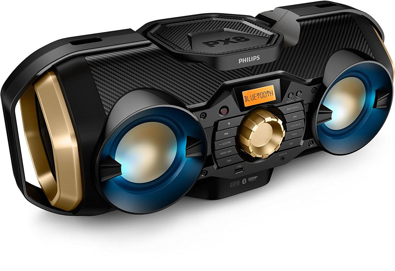 Philips CD Soundmachine Home Audio Bluetooth Usb Wireless Megasound Hi-Fi System 50W Dynamic (CD, CD-R, CD-RW, CD audio,... by Philips