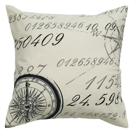 Wildon Home  Number Cotton Throw Pillow