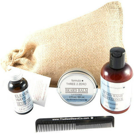 the best beard company lavender premium grooming traveling kit 5 pc. Black Bedroom Furniture Sets. Home Design Ideas
