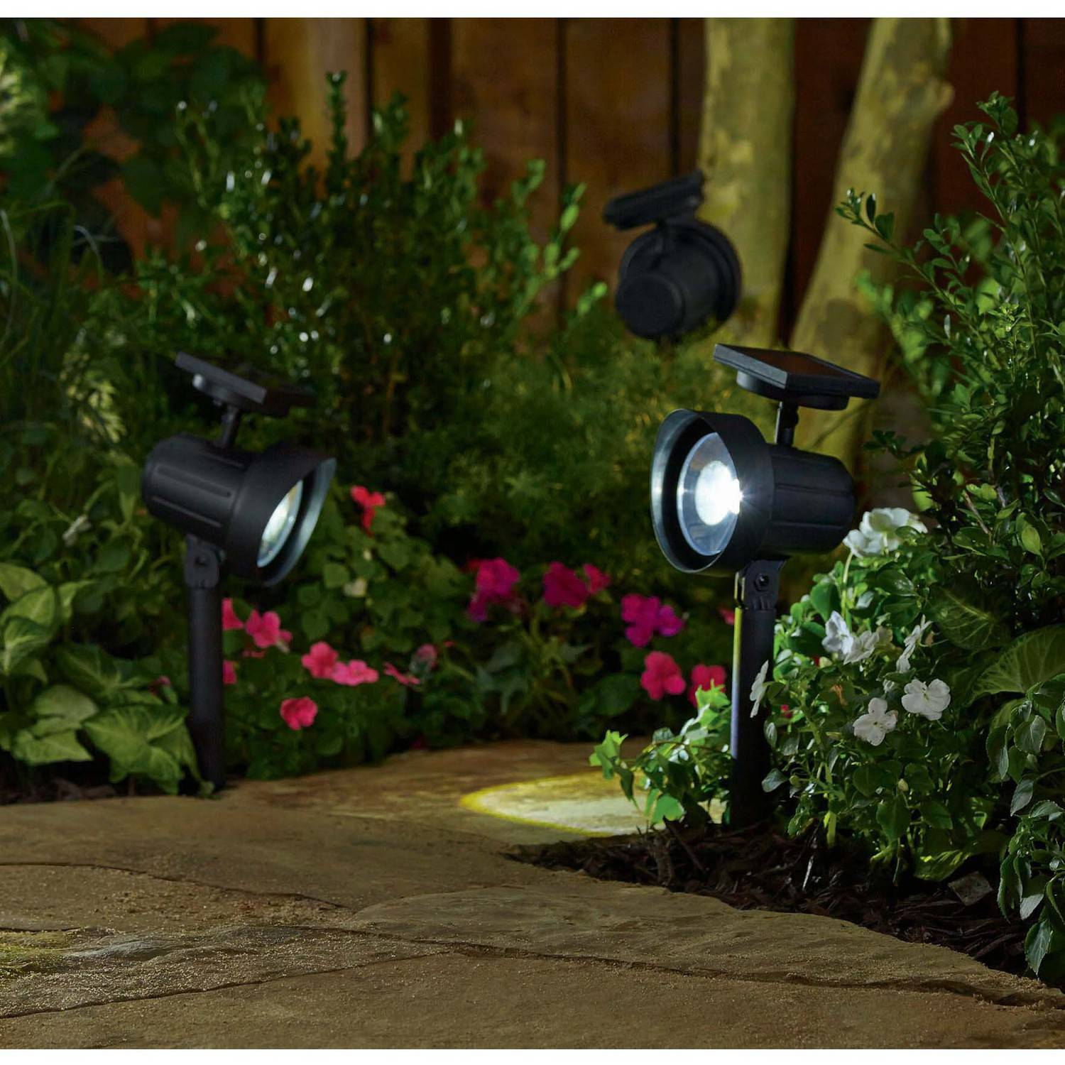Better Homes and Gardens Solar-Powered Adjustable Spotlight, Black Finish