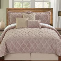 Serenta Ogee Faux Fur Embroidered 7 Piece Bed Spread Set